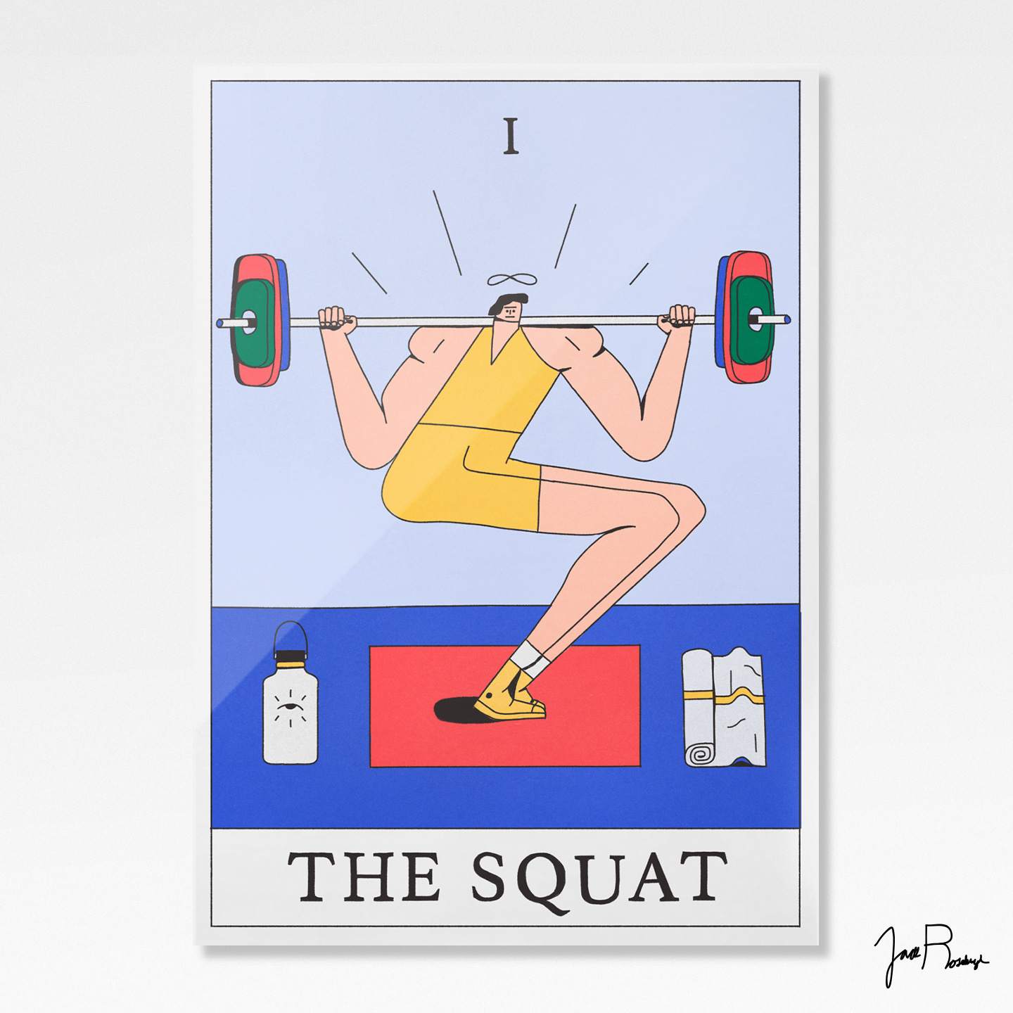 Squat Tarot Card